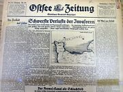 June 8 1944 Ww Ii German Newspaper With Allied Invasion Of Normandy France D-day