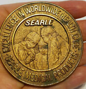 Vtg Jostens Searle Medical Products Excellence In Worldwide Health Care Medal