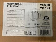 Vents Vk 100 Centrifugal In-line 4 Fan Air Duct Booster New