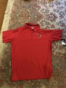 University Of Louisville Polo Shirt Red Mens Large Fits 42/44 Nwt Go Cards