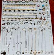 Vintage Sterling Silver 925 Stamped Mixed Jewelry Lot 59 Pieces 340 Grams