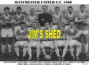 Manchester United Team Print 1960 Quixall/giles/gregg
