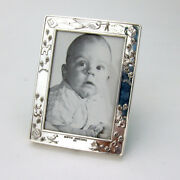 Birth Record Baby Picture Frame Lullaby Sterling Silver