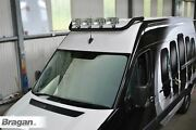 Roof Light Bar Black + Spot Lamps For Volkswagen Crafter 2017+ Stainless Steel