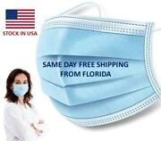 Disposable Filter Protective 3 Ply Surgical Mask Elastic Ear Loop Face Masks Usa