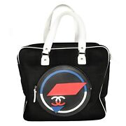 Toile Rubber Leather Large Zipped Airline Shopping Bag