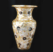 14and039and039 Marble Abalone Vases Decoration Stone Random Inlay Easter Day Gifts H3753