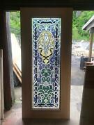 Hand Made Stained Glass Estate Interior Or Exterior Jeweled Thermo Door - Jb21