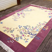 Yilong 6and039x9and039 Mildness Handmade Wool Carpet Chinese Art Deco Floral Area Rug