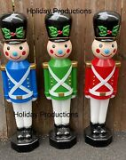 42andrdquo Lighted Christmas Toy Soldier Blow Mold Display Figure New Choice Of Color
