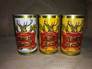 3 August Schell's Xmas Brew Beer Cans 12 Oz Vintage Vtg Christmas Man Cave...