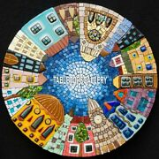 Gemstone Mosaic Exclusive Kitchen Marble Table Top Fabulous Inlay Decor H4039a