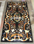 Black Antique Marble Top Console Table Inlay Mosaic Dining Room Decor Arts H3137