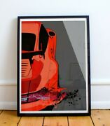 Porsche 911 Gt2 Rs Limited Edition Print Guards Red 993 Car Pop Art Artwork Gt3