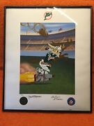 Andldquobombs Awayandrdquo..wiley E. Coyote Miami Dolphins Signed By Charles And Tom Mckimson