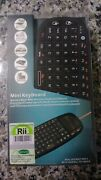 Rii Mini I10 Bluetooth Keyboard With Touchpad Mouse For Pc, Tablet And Smart Tv