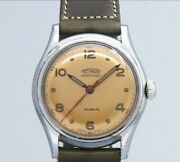Technos 3 Hands Original Copper Dial Manual Winding Vintage Watch 1950and039s