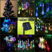 Solar Energy Water Drops Shape Light String Suitable For Indoor And Outdoor Use