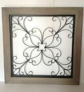 Pottery Barn Iron Window Gate Wall Art New Sold Out At Pottery Barn Rare