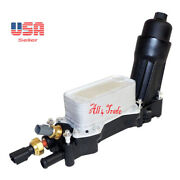 Set Engine Oil Cooler And Oil Filter Housing And Oil Pressure And Temperature Sensors