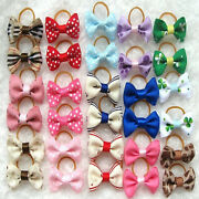 500pcs Lot Assorted Pet Cat Dog Hair Bows With Rubber Bands Grooming Accessories