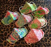Lilly Face Mask/cover With Filter Pocket And Ties No Ear Pain