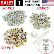 150pcs Stainless Steel Boat Marine Canvas Fabric Snap Cover Button And Socket Kit