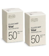 Arkray Glucocard Vital Diabetic Test Strips 50ct 2 Boxes 100 Ct Free Ship