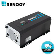 Open Box Renogy 3000w Pure Sine Wave Inverter W/ Lcd 12v Battery Power Charger