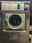 Wascomat 20lb Washer W75 Stainless Steel Emerald Serie Laundromat Refurbished