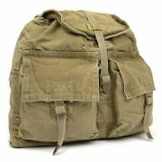 Czech Army Cold War Backpack With Straps Euro Military Surplus Canvas Rucksack