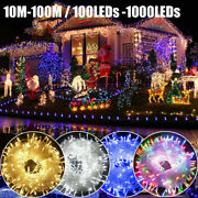 Outdoor Fairy String Lights 100-1000 Led Waterproof Xmas Christmas Party Plug In