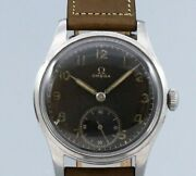 Omega 2400-2 Small Second Original Black Dial Manual Vintage Watch 1940and039s
