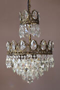 Antique Vintage Crystal Chandelier Ceiling Lighting Home Glass Lamp And Pendant