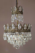 Antique Vintage Crystal Chandelier, Ceiling Lighting, Home Glass Lamp And Pendant