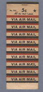 Vintage Original Book Of 'via Air Mail' Stickers - Used - 26 Remaining