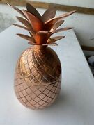 """Elyx Copper Pineapple Punch Bowl Extremely Rare 12.5"""" Tall"""