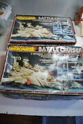 Micronauts Mego 2 X Boxed Battle Cruiser  For Parts   Nice