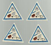 Lot Of 4 Girl Scout Patches Careers Try-its Triangle Set Jobs Chef Doctor Blue