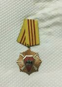 Albania. Order For Protection Of The Homeland 3st Class. Medal. Orden.