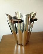 Driade Silver Plated Wine Cooler Ice Bucket Art Deco Brutalist Styling Stunning