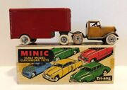 Tri-ang Minic Wind Up 30m Mechanical Horse And Pantechnicon