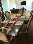 Complete Dining Set With 6 Chairs And Complete Wall Chinaandnbsp With Shelves Pulaskiandnbsp