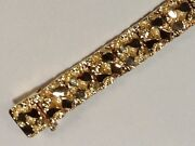 14kt Solid Yellow Gold Mens Nugget Bracelet 9 Mm 40 Grams 9 Inches