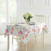 Town And Country Spring Medley Floral Tablecloth 60x104 Shabby Rose Summer Garden