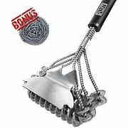Grill Brush -bbq Cleaning Scraper Set Stainless Steel Bristle Free Free Shipping