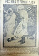 1911 Newspaper W Photo Masks Being Worn To Help Prevent Transmission Of Disease
