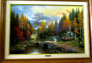 Thomas Kinkade Valley Of Peace Beginning Of A Perfect Day Ii Orig Owner