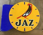 Antique Plate Enamelled Double Face Jaz Watchmaking Clock 19 5/16x24in Eas