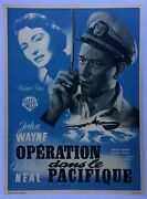 Poster Mounted Operation In The Pacific Boat John Wayne Sailor 23 5/8x31 1/2in